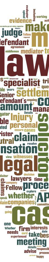The legal process word cloud