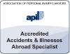 Accidents and illnesses abroad specialist lawyer